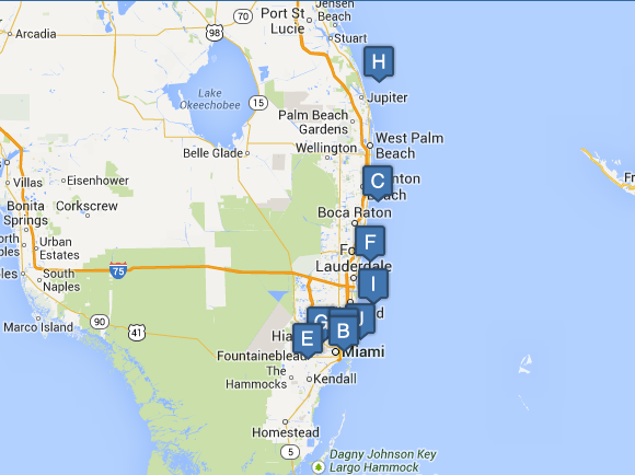Florida East Coast Project Map Report - Florida east coast map