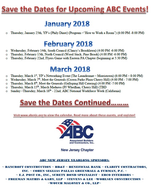 ABC New Jersey Chapter News