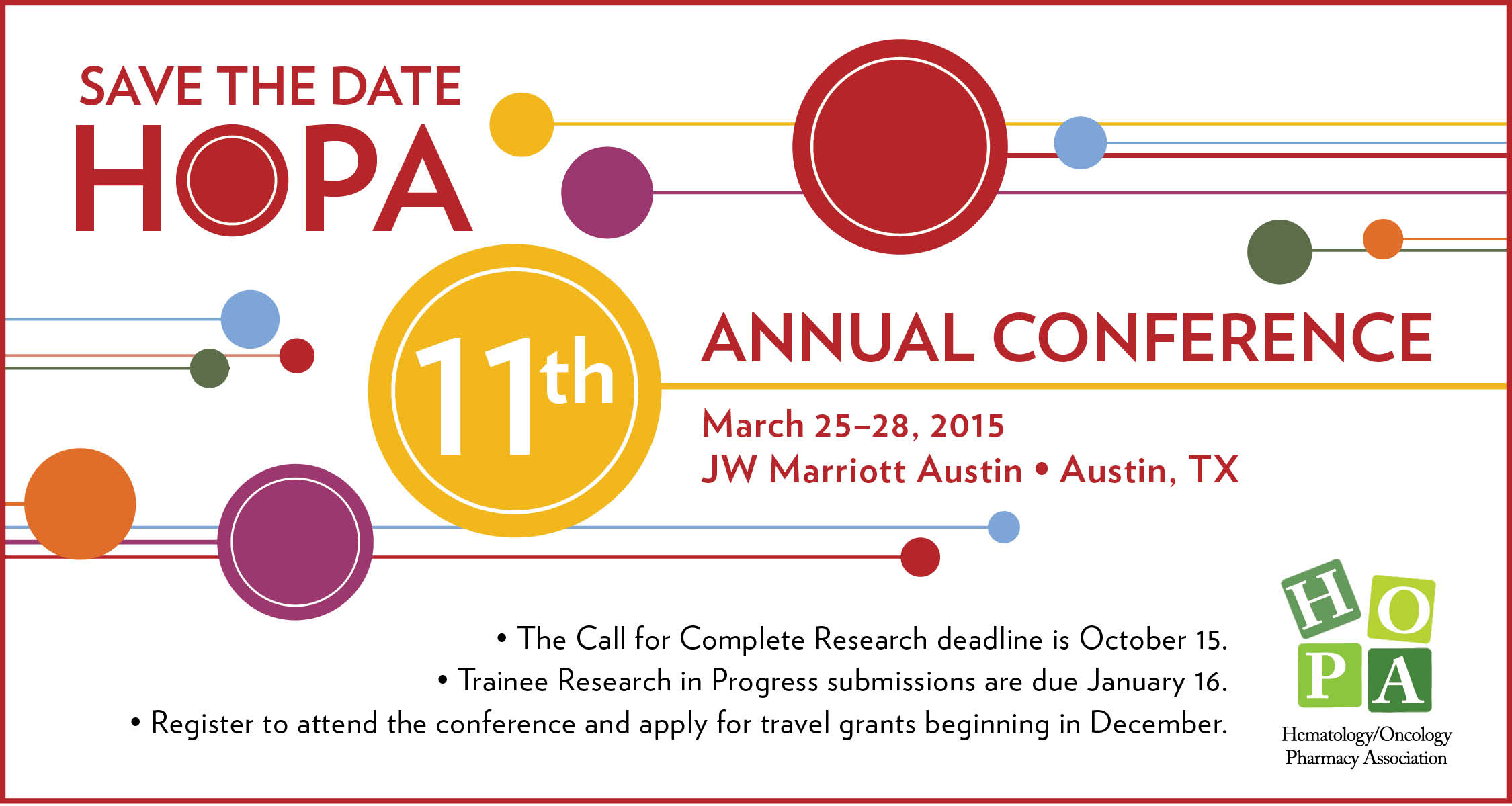 Hopa Call For Poster Abstracts