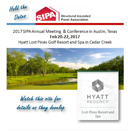 Sipa update for Structural insulated panels texas